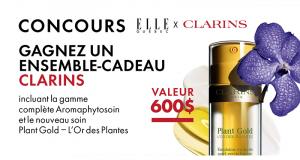 Un ensemble-cadeau L'Or des Plantes de Clarins (Valeur de 600$)