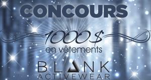 Gagnez 1000 $ en vêtements Blank Activewear