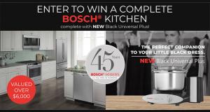 Gagnez un Ensemble de prix Bosch pour la cuisine (Valeur de 6000$)