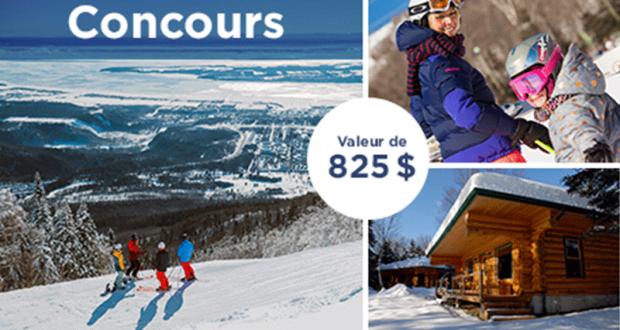 Gagnez un séjour de ski pour 4 personnes (Valeur de 825$)