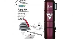 Un aspirateur central Cyclo Vac (Valeur de 929$)