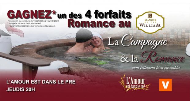 4 Forfaits Romance pour deux personnes au Manoir du lac William