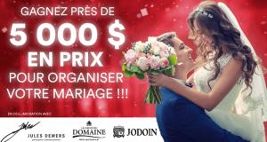 5 000 $ en prix pour organiser votre mariage de rêve