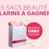 5 Sacs de 17 produits de Beauté Clarins (1000$ chacun)