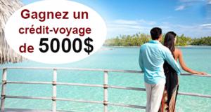 Gagnez Un crédit-voyage de 5 000 $ avec Voyages Traditours