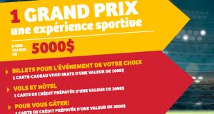 Gagnez Une expérience sportive d'une valeur de 5000$