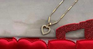 Pendentif et chaîne en or