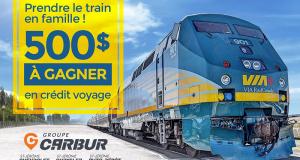 Un crédit-voyage ViaRail de 500$