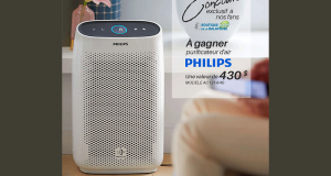 Un purificateur d'air de la marque Philips