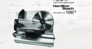 Un trancheur électrique de la marque Hamilton Beach