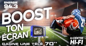 Une télé de 70 pouces d'une valeur de 2 000 $