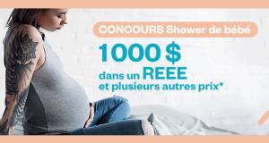 1 000$ en vêtements et produits pour bébé + 1000$ REEE