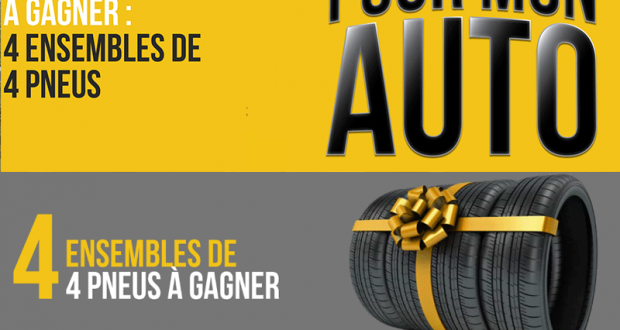 Gagnez 4 Ensembles de 4 pneus de votre choix