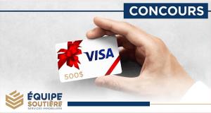 Gagnez Une carte cadeau Visa de 500$