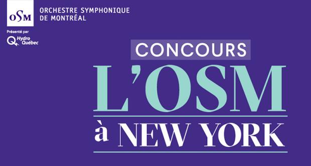 Gagnez un Voyage pour deux à New York pour un concert de l'OSM