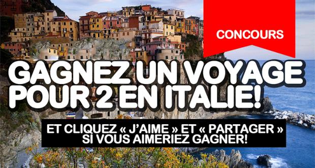 Gagnez un voyage pour 2 personnes en Italie (Valeur de 6800 $)