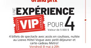 Gagnez une expérience VIP Cirque du Soleil (Valeur de 5 000 $)