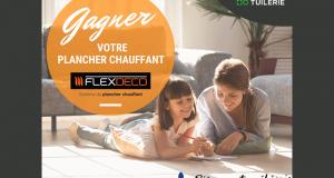 Un plancher chauffant complet + 100$ à La Tuilerie