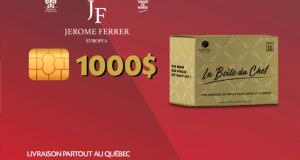 1000$ sur la boutique en ligne Jérôme Ferrer