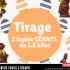 2 LAPINS GÉANTS en chocolat de 3.6 kilos chaque