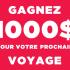 Chèque-cadeau Club Voyages Dumoulin (Valeur de 1000 $)