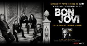 Gagnez un Voyage pour deux à Montréal pour voir Bon Jovi