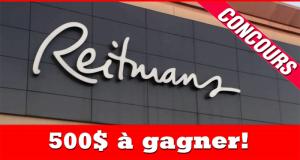 Une carte-cadeau Reitmans de 500 $