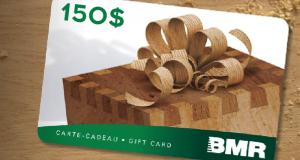 2 cartes-cadeau Groupe BMR de 150$