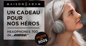 Casques d'écoute Headphone 700 de Bose (Valeur de 500$)