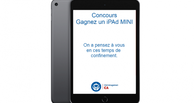 Gagnez un iPad Mini (Valeur de 530$ CAD)