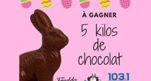 Gigantesque lapin en chocolat pour Pâques - 5 kilos