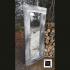 Un beau miroir en bois recyclé 30 X 70 pouces