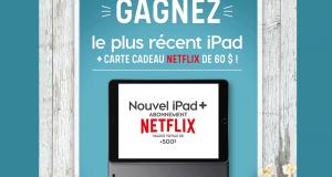 Un iPad Apple + une carte cadeau Netflix
