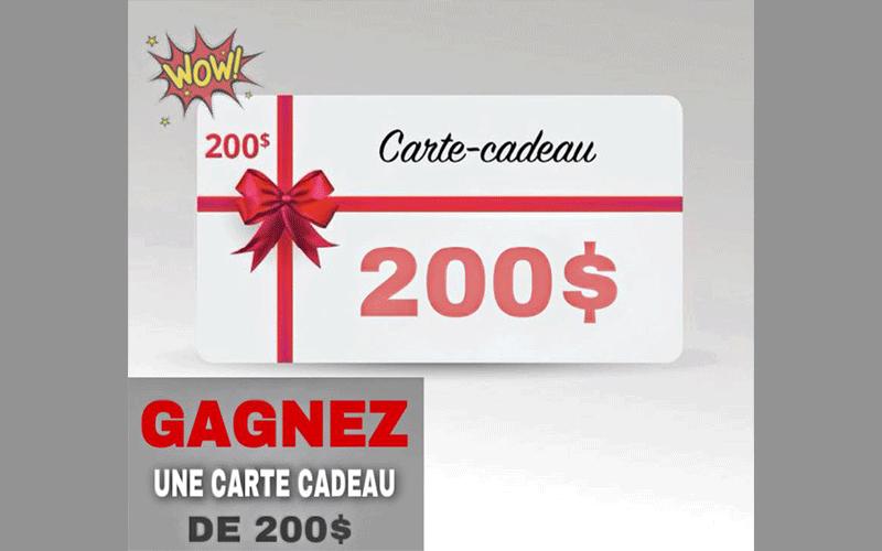 Une Carte De Credit Prepayee De 200 Quebec Concours Gratuits