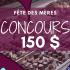 150$ de délicieux chocolats belges