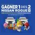 Gagnez 1 des 2 Nissan Rogue SE 2020 (30000$ chacun)