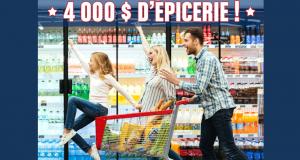 Gagnez 4 000 $ d'épicerie