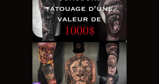 Tatouage d'une valeur de 1 000 $