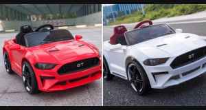 Un Ford Mustang GT 12 volts rouge ou blanc