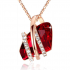 Collier Swarovski Elements Crystal Ruby Red