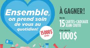 Gagnez 1 des 15 cartes-cadeaux Jean Coutu de 1000 $