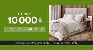 Gagnez 10 000$ pour changer de décor