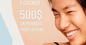 500$ à gagner en produits pour la peau