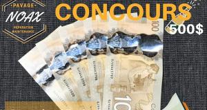 Concours Gagnez 500$ comptant
