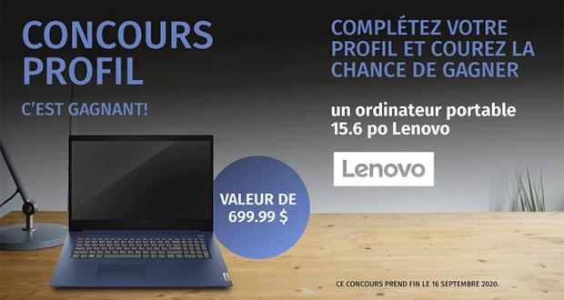 Gagnez Un ordinateur portable Lenovo