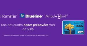 Gagnez Une des 4 cartes-cadeaux Visa prépayée de 500$