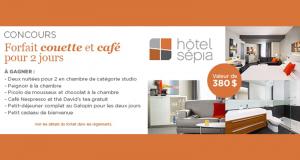 Gagnez un séjour de 2 jours pour deux à l'Hôtel Sepia