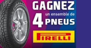 Un ensemble de pneus d'hiver de marque Pirelli
