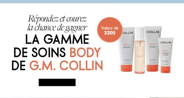 Ensemble de 4 produits de beauté G.M. Collin