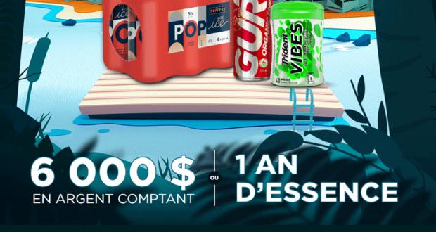 Gagnez 6 000$ en argent comptant OU Un an d'essence de 3 000$